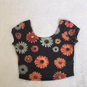 """""""5 For $25"""" Floral Tight Crop Top"""